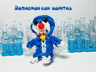 Doraemon con gomitas. Doraemon rainbow loom