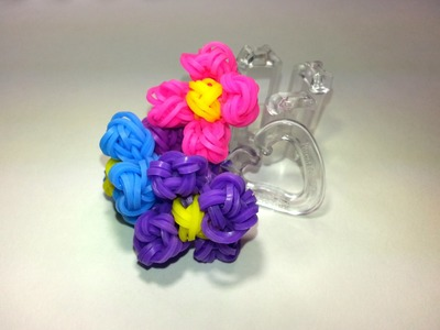 Finger Loom Flower. Review by feelinspiffy (Loom version too)