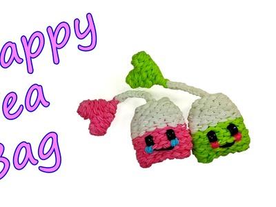 Happy Tea Bag Tutorial by feelinspiffy (Rainbow Loom)