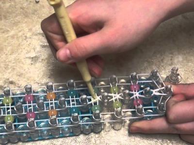 How to make a rainbow loom double beaded ladder bracelet