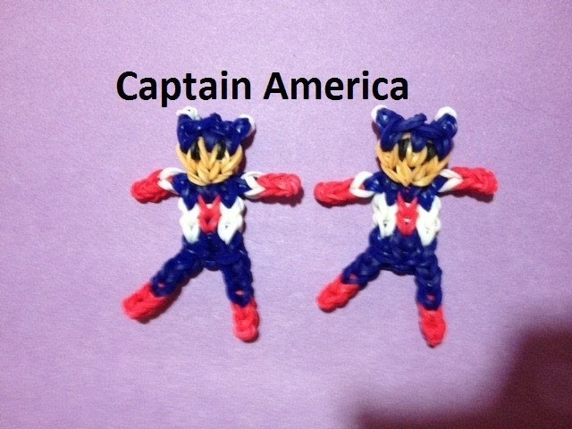 How to Make Captain America on the Rainbow Loom - Original Design