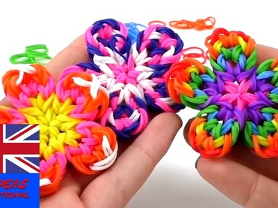 How to make loom band little flowers?. Tutorial - Do it yourself
