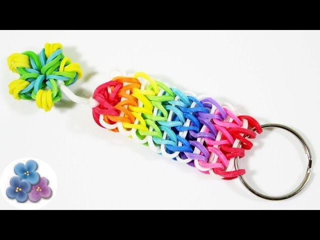How to make Rainbow Loom Key Chains DIY Cool Keychains with Rainbow Loom Charms Mathie