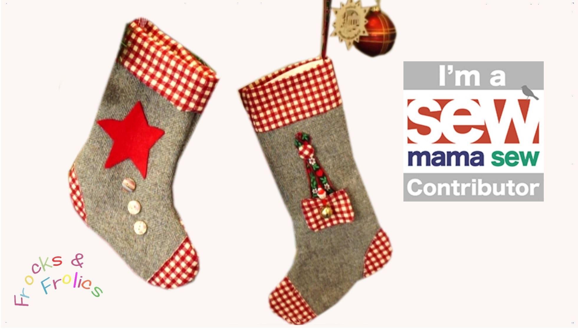 How to sew a Christmas Stocking - Free seasonal TemplatePack