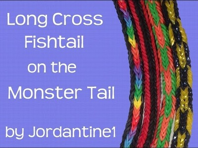 Long Cross Fishtail Bracelet- Monster Tail  - Rainbow Loom