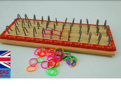 Loom bands board tutorial - how to make a rainbow loom board - make your own board
