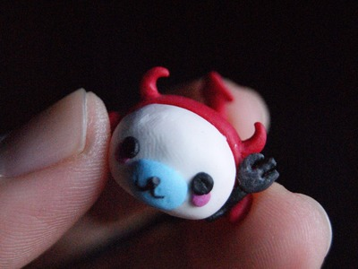 Mamegoma in Devil Suit: Polymer Clay (HALLOWEEN)