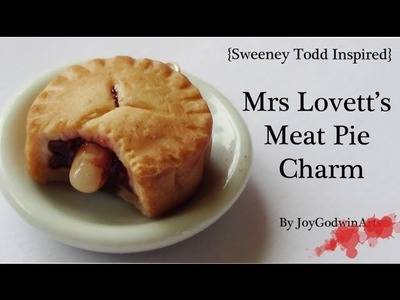 Mrs Lovett's 'Meat' Pie Charm {Sweeney Todd Inspired}- Polymer Clay