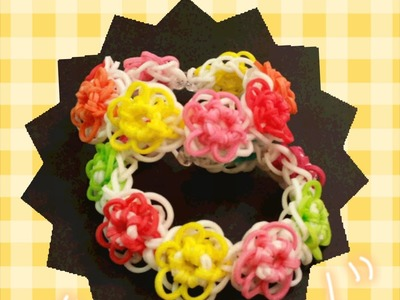 "My New ""Petal Burst ""Rainbow Loom Bracelet"