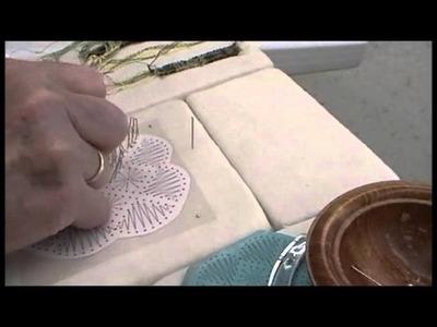 Nancy Today: How to make a Bobbin Lace spider tutorial 6 Tombolo crocheta ASMR Blen