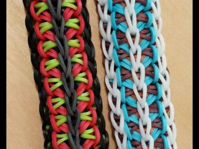 "New ""Hiawatha"" Rainbow Loom Bracelet.How To Tutorial"