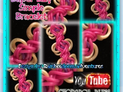 Rainbow Loom Band Super Silly Simple Bracelet Tutorial.How to