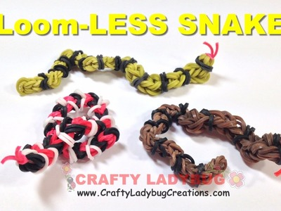 Rainbow Loom Bands Small 3D CORN, GARDEN OR RATTLE SNAKE - NO LOOM  EASY Charm Tutorials.How to Make