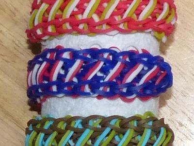 "Rainbow Loom Bracelet - Original Design - ""ELLIPTICAL"" (ref # 3Sj)"