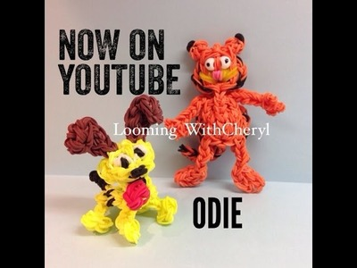 Rainbow Loom Odie the Dog from Garfield - Looming WithCheryl