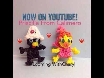 Rainbow Loom PRISCILLA Calimero's Girlfriend - Looming WithCheryl