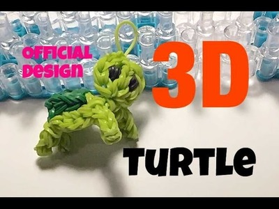 TARTARUGA CON ELASTICI official design RAINBOW LOOM turtle 3d como hacer una tortuga 3d con gomitas