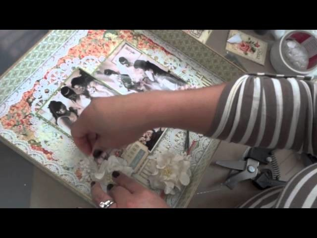 12x12 Mixed Media Altered Shadow Box Layout - Tutorial Part 2 of 2