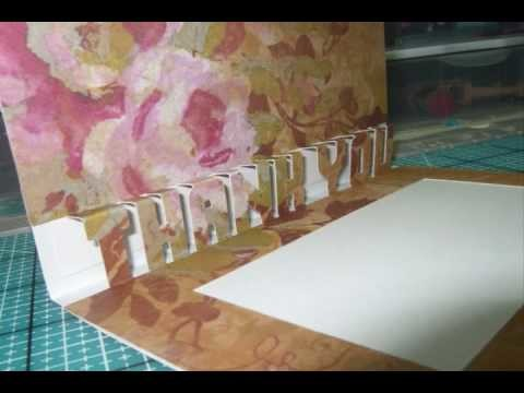 3D WORD Cards made with Make the Cut