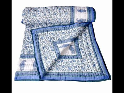 Bollywood quilts, Handmade cotton Quilt, Indian Quilts.wmv