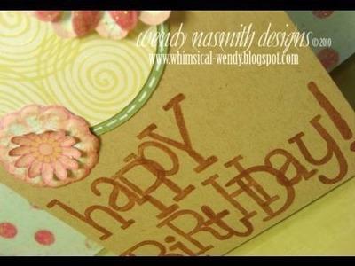 Card Tutorial - Happy birthday!