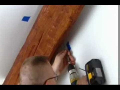 Cathedral Ceiling Ideas | How To Install Imitation Wood Beams