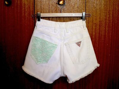 D.I.Y Customized Denim Shorts Pocket