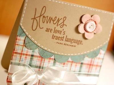 Flowers.  - Make a Card Monday #116