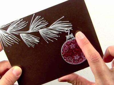 Glittery Acetate Ornament Card