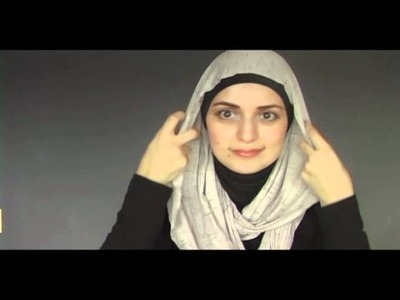 Hijab style tutorial with scarf necklace (infinity scarf)