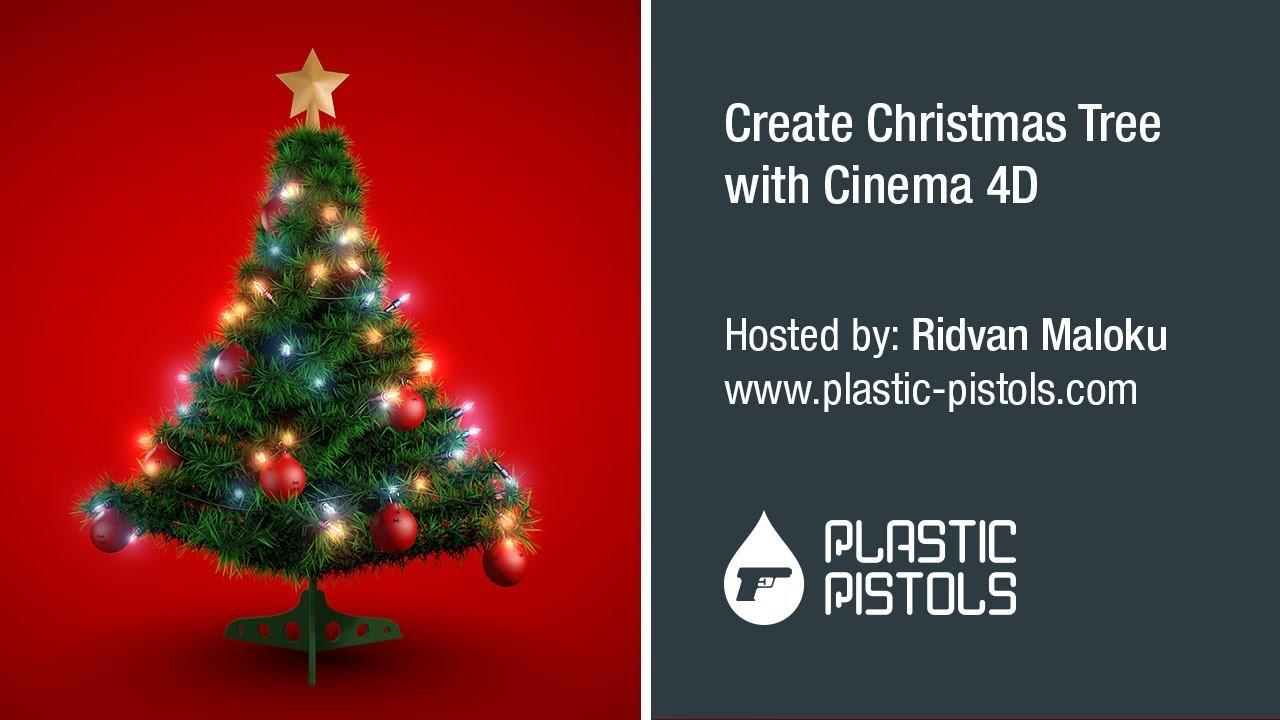 How To Create Christmas Tree With Cinema 4D