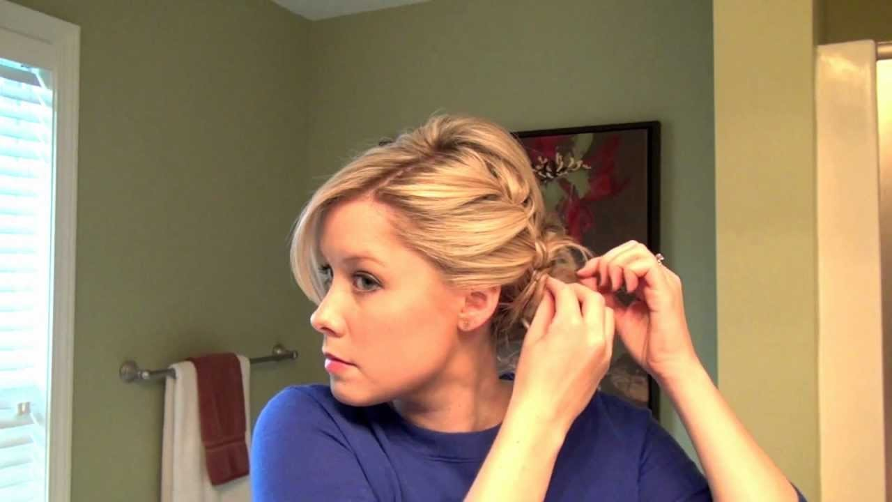 How to Do A Full Updo with a Braid   Real Simple