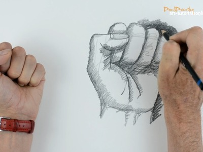 How to draw a clenched fist: beginners