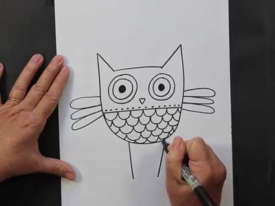 How to Draw a Hoot Owl Easy Drawing Tutorial for Children by doodleacademy