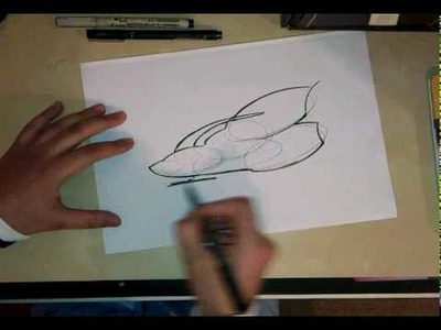 How to draw a spaceship using simple shapes.