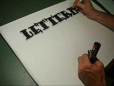 How to draw pen Lettering freehand style lesson 2