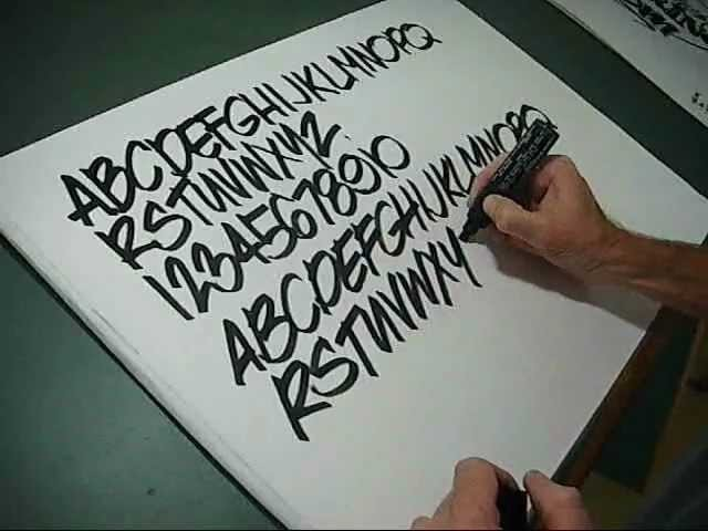 How to draw pen Lettering freehand style you can do it!!!!