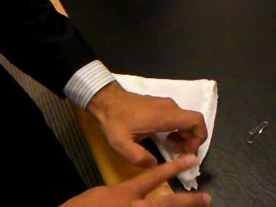 How to fold a tux pocket handkerchief - single