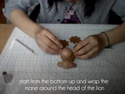 How To: Fondant Lion Figure