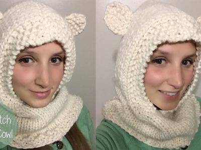 HOW TO KNIT SEED STITCH HOODED COWL