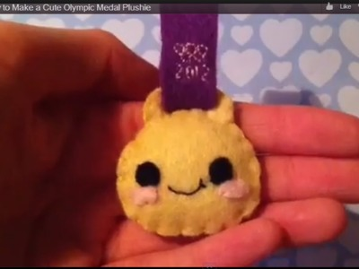 How to Make a Cute Olympic Medal Plushie