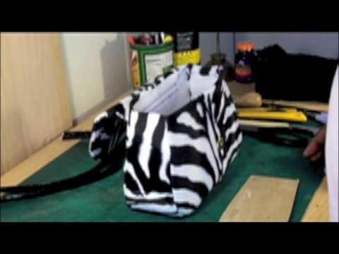 How to make a designer handbag-zebra. sewing your handbag 2