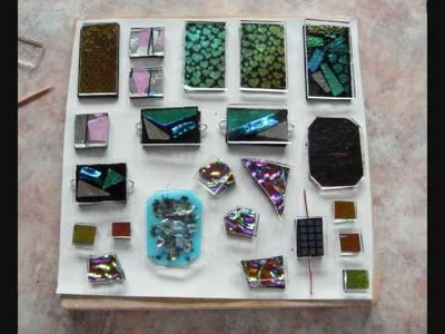 How to make a dichroic glass cabochon