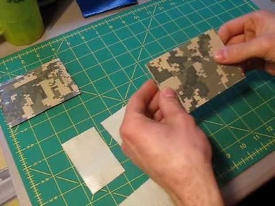 How to make a Duct tape money pouch w. credit card holders