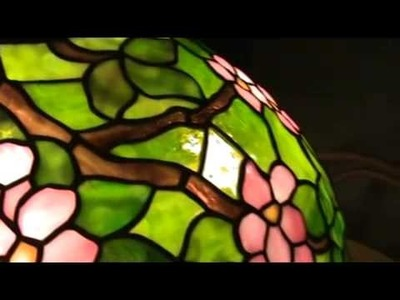 How to make a stained glass lamp - tiffany apple blossom