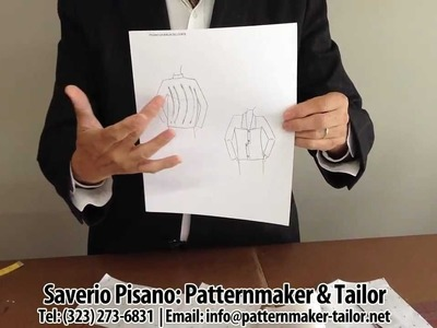 How to make a straight womens jacket with no gusset by Patternmaker Pisano