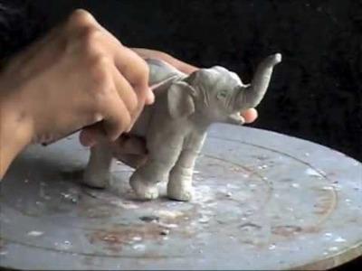 How to Make an Elephant in Clay (4) Khwan Barton, artist