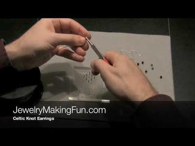 How to Make Earrings - Celtic Knot Earrings