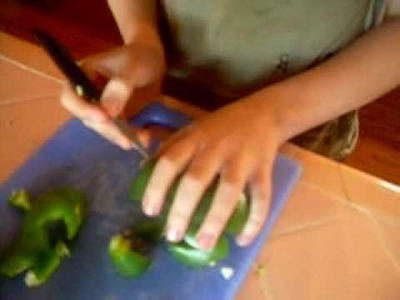 How to make Frogs from Bell Peppers