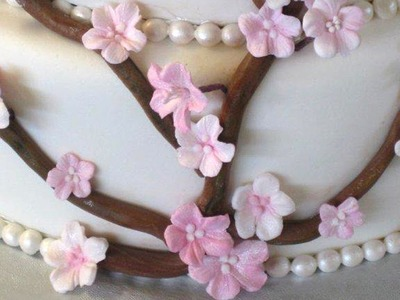 How to Make Gumpaste Cherry Blossoms--The Easy Way--Part 1